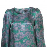 zielona bluzka Topshop we wzory - wiosna/lato 2011