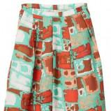 zielona spódnica H&M we wzory - wiosna 2012