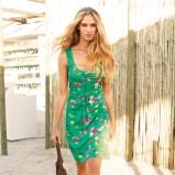 zielona sukienka Lidl w kwiaty - kolekcja letnia