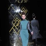 zielona sukienka Łukasz Jemioł - kolekcja zimowa