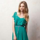 zielona sukienka Pull and Bear - jesień/zima 2011/2012