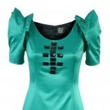 zielona sukienka z czarnymi kamieniami Simple - jesień/zima 2010/2011
