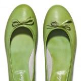 zielone baleriny Badura - buty na lato