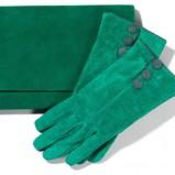 zielone rękawiczki Mohito - kolekcja jesienno-zimowa
