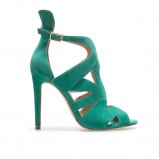 zielone sandałki ZARA - lato 2013