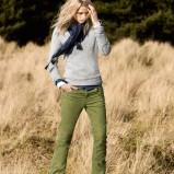 zielone spodnie H&M sztruksowe - jesień/zima 2011/2012