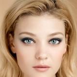 Zielony makijaż oczu Clarins trendy jesienne