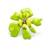 zielony pierścionek Me'amoore z kwiatem - kolekcja wiosenno/letnia