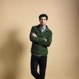 zielony sweter Cottonfield w paski - moda 2011/2012