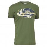 zielony t-shirt Cottonfield z nadrukiem - jesień 2011