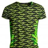 zielony t-shirt H&M we wzory - jesień/zima 2011/2012