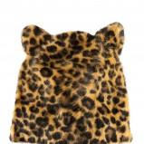 zimowa czapka H&M w panterkę - modna panterka