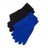 zimowe rękawiczki Lindex w kolorze niebieskim i czarnym - modne dodatki na jesień i zimę