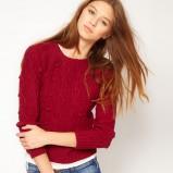 zimowy sweter Asos w kolorze wina - moda damska jesień-zima 2012/2013