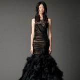 zjawiskowa  czarna suknia ślubna Vera Wang   moda 2012/13