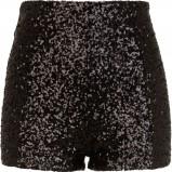 zjawiskowe szorty River Island z cekinami w kolorze czarnym - karnawałowa moda
