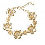 złota bransoletka Glitter z kwiatami - wiosna/lato 2012
