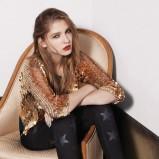 złota narzutka Topshop z cekinami - moda 2011