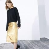 złota spódnica ZARA - moda 2013