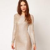 złota sukienka Asos - półmetek 2013