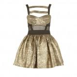 złota sukienka River Island - moda jesień/zima 2010