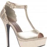 złote sandałki New Look na platformie - zima 2011/2012