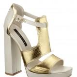 złote sandały River Island - z kolekcji wiosna-lato 2012