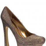 złote szpilki New Look na platformie - zima 2011/2012