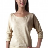 złoty sweter Promod - moda zimowa