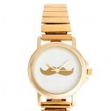 złoty zegarek Asos z wąsami