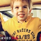 żółta bluza Reserved z napisami - wiosna-lato 2011