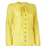 żółta bluzka Jackpot rozpinana - z kolekcji wiosna-lato 2012