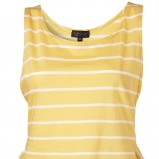 żółta koszulka Topshop w paski - trendy wiosna-lato