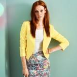 żółta marynarka H&M - moda na wiosnę/lato 2013