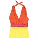 żółta sukienka C&A wiązana na szyi - kolekcja na lato