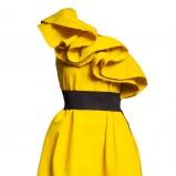 żółta sukienka H&M - jesień/zima 2010/2011