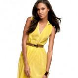 żółta sukienka H&M - lato 2012