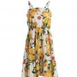 żółta sukienka Kappahl w kwiaty - lato 2011