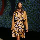 żółta sukienka Kenzo w panterkę - kolekcja wiosenna