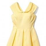 żółta sukienka Mohito rozkloszowana - wiosna/lato 2012