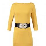 żółta sukienka Top Secret - kolory na wiosnę