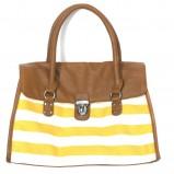 żółta torebka Carry w pasy - lato 2012