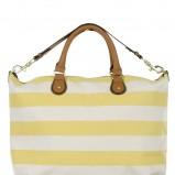 żółta torebka New Look w pasy - lato 2012