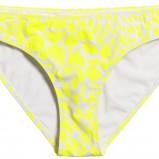 żółte figi H&M w ciapki - lato 2012