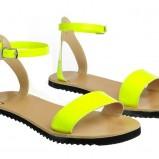 żółte sandały Simple płaskie - wiosna/lato 2012