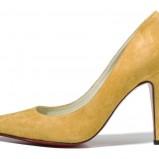 żółte szpilki Baldowski zamszowe - moda na wiosnę/lato 2013