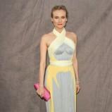 żółto - szara sukienka - Diane Kruger