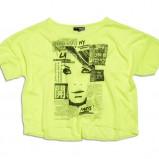 żółty t-shirt KappAhl z nadrukiem - z kolekcji wiosna-lato 2012