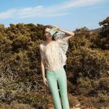 zwiewna bluzeczka Simple w kolorze beżowym - wiosna 2013