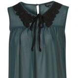 zwiewna bluzeczka Topshop w kolorze ciemnozielonym - kolekcja damska jesień-zima 2012/2013